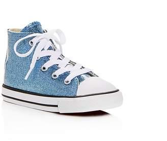 Converse Girls Chuck Taylor All Star Glitter High Top Sneakers - Baby, Walker, Toddler