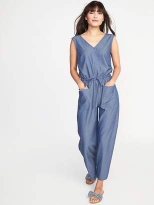 Old Navy Sleeveless Utility Twill Jumpsuit for Women