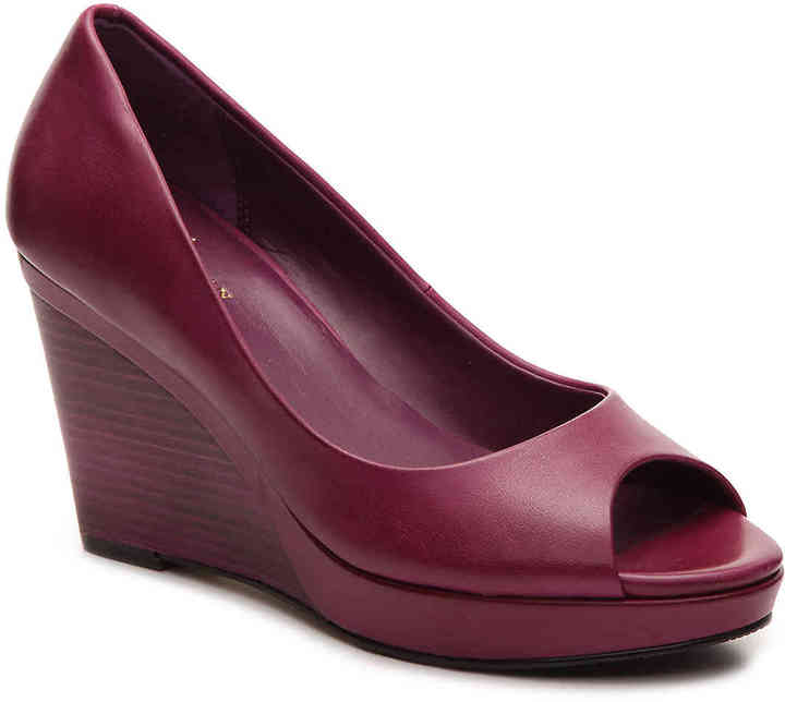 Cole Haan  Women's Shayna Wedge Pump -Red