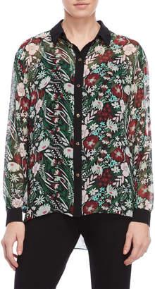 Juicy Couture Black Secret Garden Floral Shirt