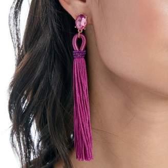 Sole Society Long Tassel Drop Earrings