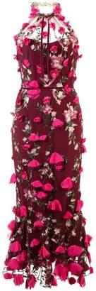 Marchesa embellished floral lace dress