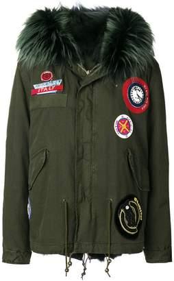 Mr & Mrs Italy parka coat with patch appliqués