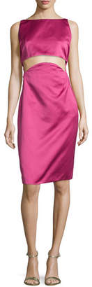 Zac Posen Two-Part Cropped Dress, Raspberry $1,990 thestylecure.com
