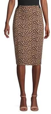 Context Leopard Print Pencil Skirt