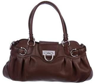 Salvatore Ferragamo Grained Leather Gancio Handle Bag