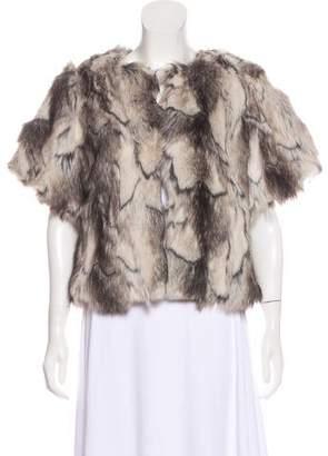 BSable Faux Fur Short Sleeve Jacket