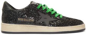 Golden Goose Black Glitter Ball Star Sneakers