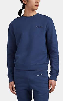 "Off-White Men's ""Logo"" Cotton French Terry Sweatshirt - Navy"