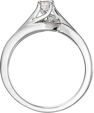 Love Diamond Love DIAMOND 9ct White Gold 18 Point Diamond Twist Bridal Set