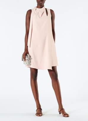 Tibi Chalky Drape Pleat Neck Shift Dress