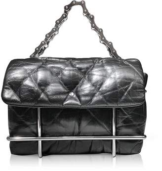 Alexander Wang Halo Black Quilted Leather Xbody Bag