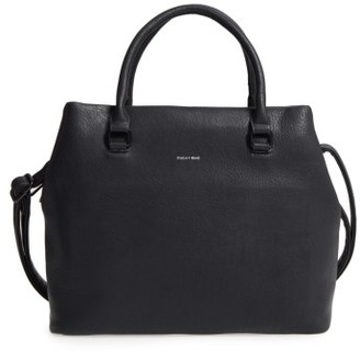 Pixie Mood Sylvia Faux Leather Tote - Black $78 thestylecure.com