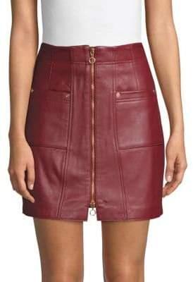 Alice McCall Leather Mini Skirt