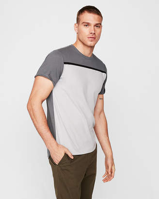 Express Heat Seal Stripe Short Sleeve Tee