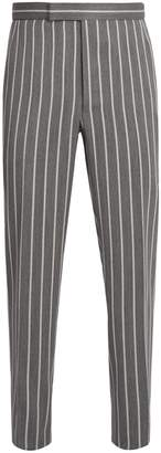 Thom Browne Backstrap straight-leg pinstriped trousers
