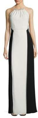 Halston Two-Toned Sleeveless Gown
