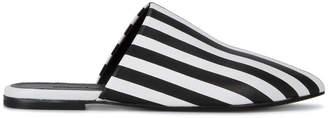 Marques Almeida Marques'almeida striped flat mules