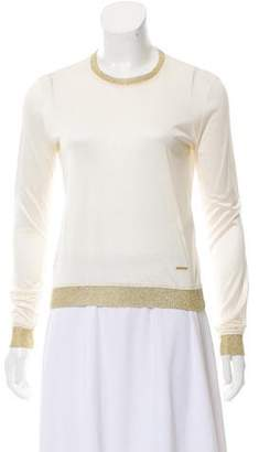 DSQUARED2 Creme Long Sleeve Top