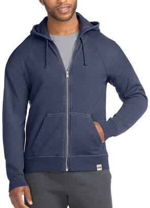 Hanes Mens 1901 Heritage Raglan Fleece Hooded Jacket