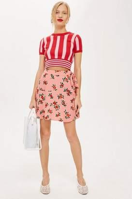 Topshop Floral Blossom Mini Skirt