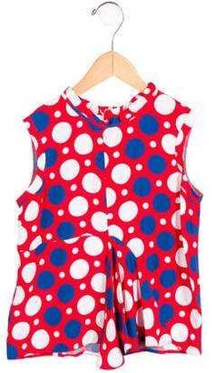 Marni Girls' Sleeveless Polka Dot Top w/ Tags