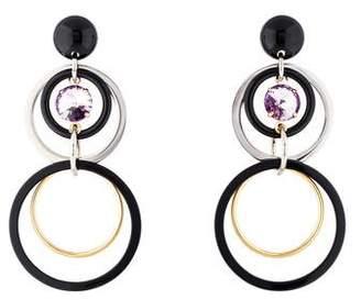 Marni Crystal Interlocking Circle Clip-On Earrings