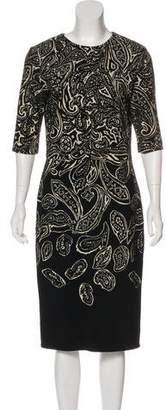 Etro Long-Sleeve Midi Dress