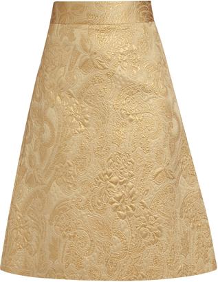 REDVALENTINO A-line brocade skirt $333 thestylecure.com