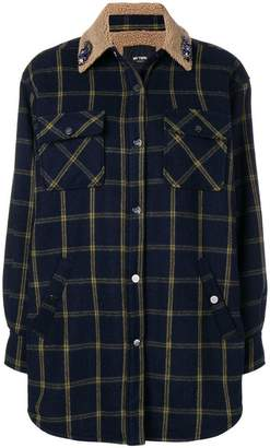 Twin-Set checked button shirt-jacket