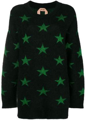 No.21 star print jumper