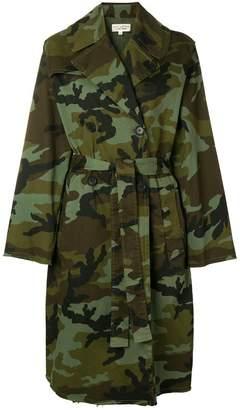Nili Lotan camouflage print coat