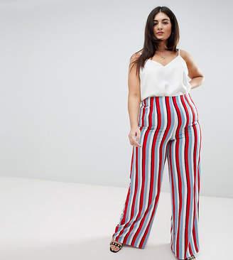 Missguided Plus Striped Wide Leg Pants