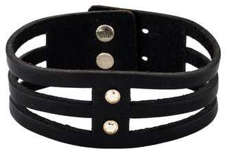 Isabel Marant Slit Leather & Crystal Bracelet