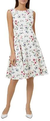 Hobbs London Nova Floral Print Fit-and-Flare Dress