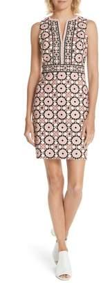 Kate Spade floral mosaic jacquard sheath dress