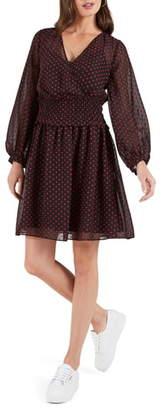 Cooper St Gracie Long Sleeve Swiss Dot Minidress