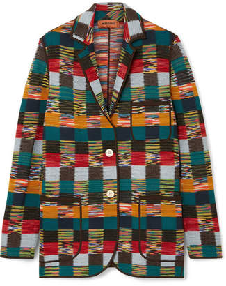 Missoni Checked Wool Blazer - Red