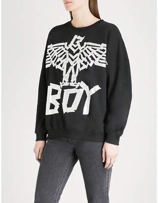 Boy London Tape Eagle cotton-jersey sweatshirt