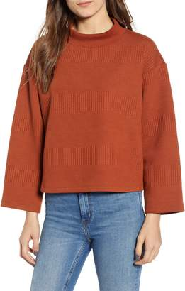 Leith Crop Mock Neck Sweater
