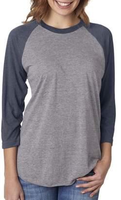 Next Level Apparel Next Level T-Shirt 6051 Men's Next Level Tri-Blend 3/4-Sleeve Raglan