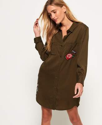 Superdry Oversized Tencel Shirt Dress