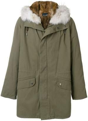 Yves Salomon fur hooded parka coat