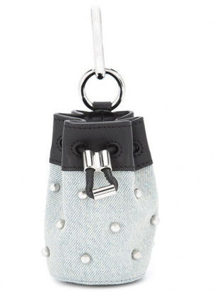 Alexander Wang mini 'Roxy' studded keyring bag $295 thestylecure.com
