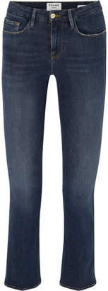 Frame Le Crop Mini Boot Mid-rise Jeans - Dark denim