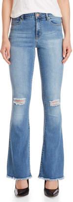 YMI Jeanswear Distressed Flared Skinny Jeans