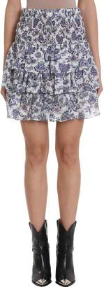 Isabel Marant Ruffles Silk Skirt