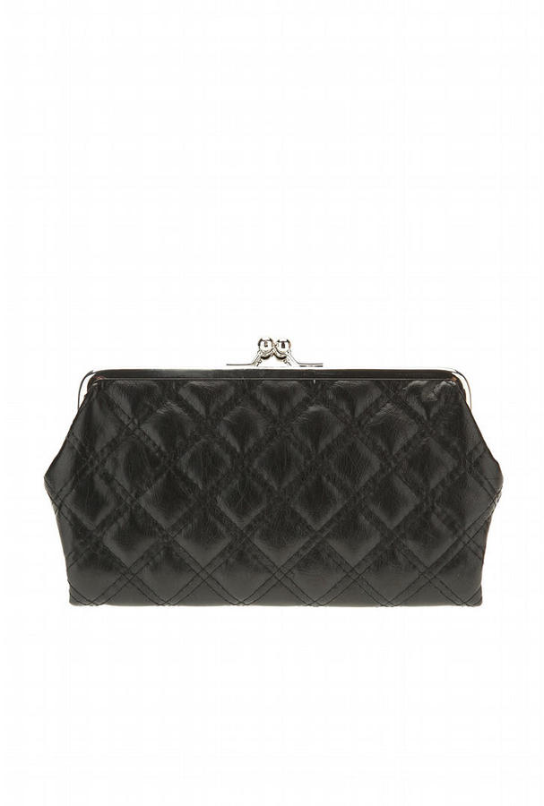Quilted Kisslock Clutch