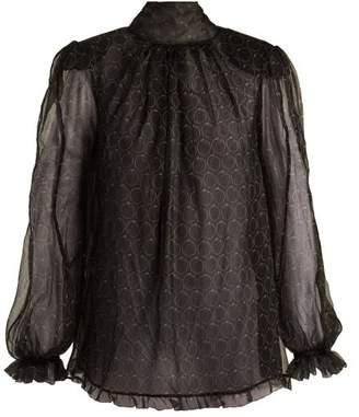 Maria Lucia Hohan Baqa Printed Silk Mousseline Blouse - Womens - Black Print