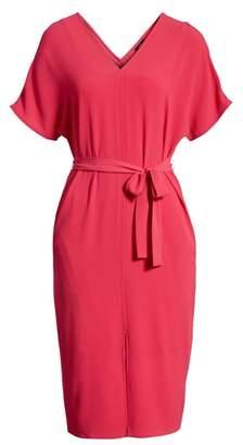 Bobeau Stretch Crepe Dress